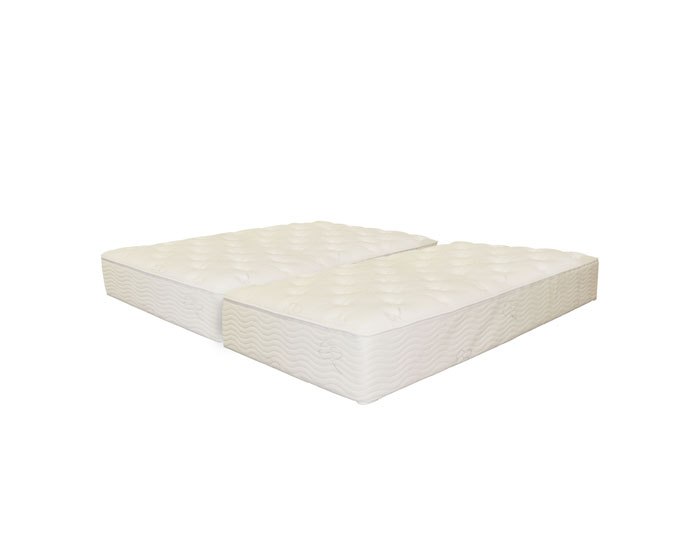 split queen mattress organic cotton firm